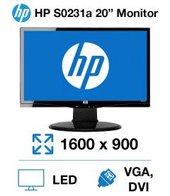 "HP S0231A 20"" Monitor"