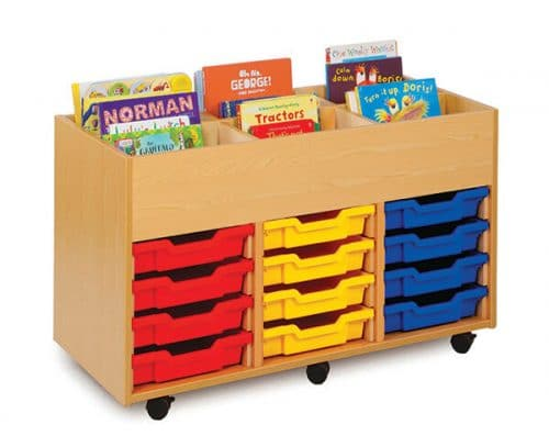 Monarch 6 Bay Kinderbox Book Storage(3 Columns of 4)