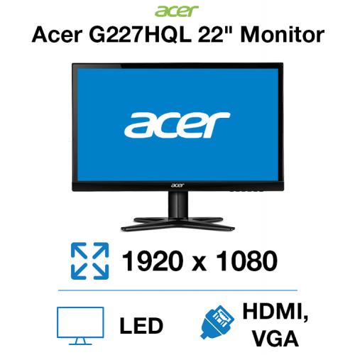 "Acer G227HQL 22"" Monitor"