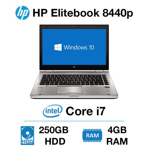 HP Elitebook 8440p Core i7   4GB   250GB HD