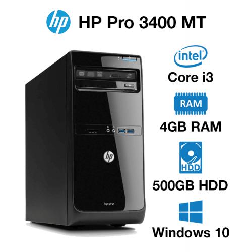 HP Pro 3400 MT Core i3   4GB   500GB HD