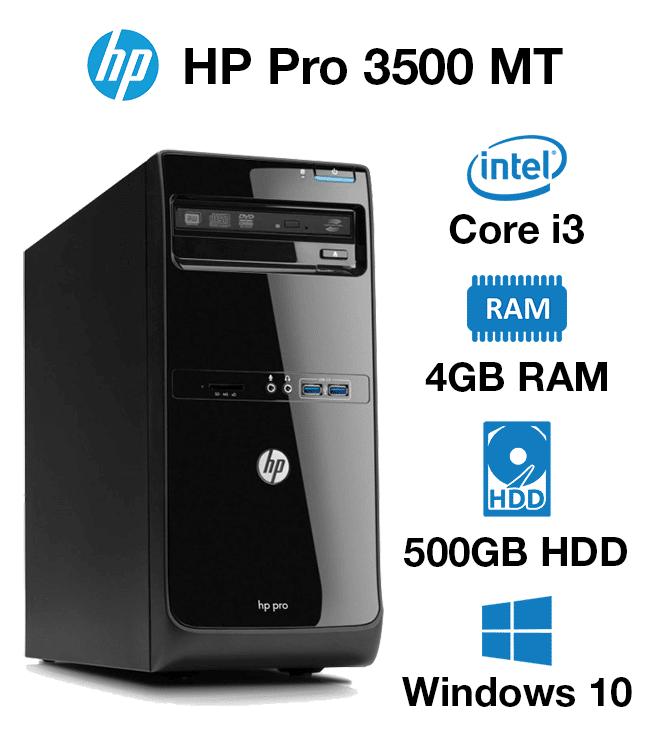 HP Pro 3500 MT Core i3 | 4GB | 500GB HD