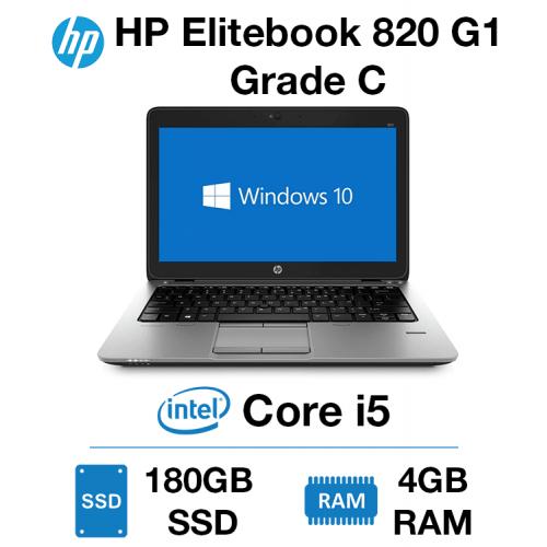 HP Elitebook 820 G1 Core i5   4GB   180GB SSD Grade C