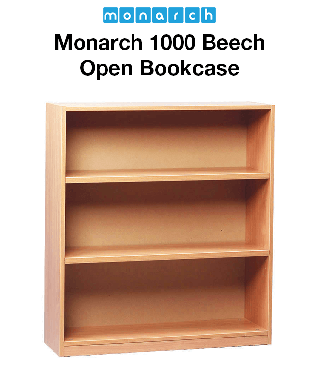 Monarch Music 1000 Beech Open Bookcase