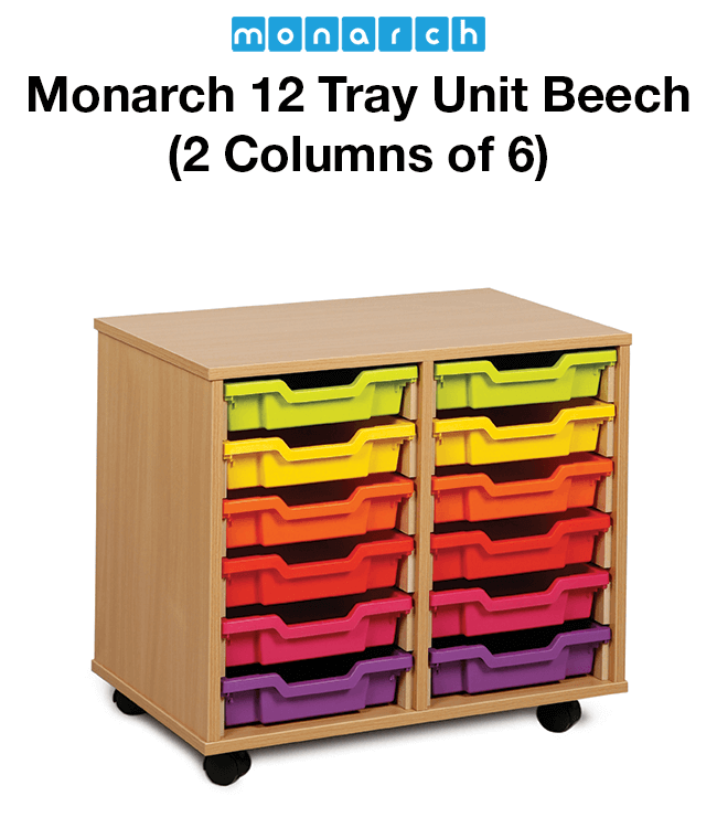 Monarch 12 Tray Unit Beech (2 columns of 6)