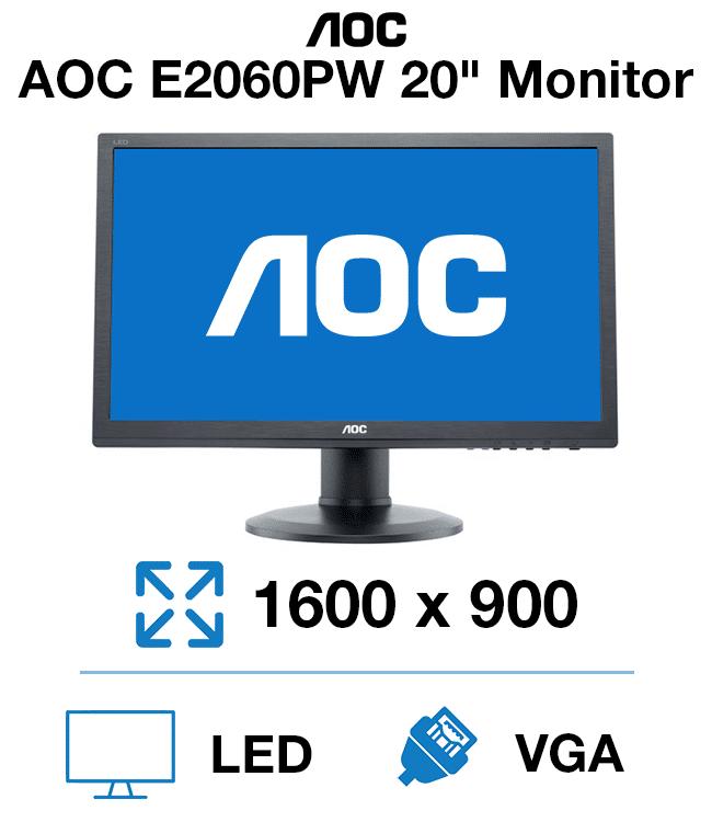 """AOC E2060PWDA 20"""" Monitor"""