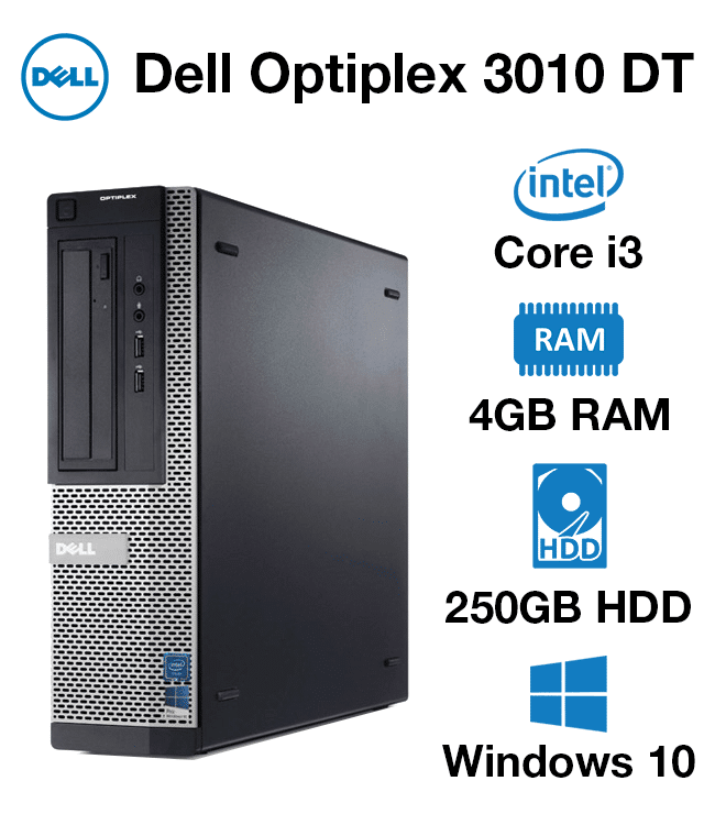 Dell Optiplex 3010 DT Core i3 | 4GB | 250GB HD