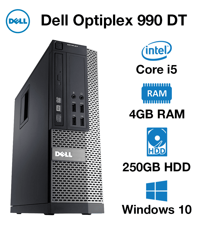 Dell Optiplex 990 DT Core i5   4GB   250GB HD
