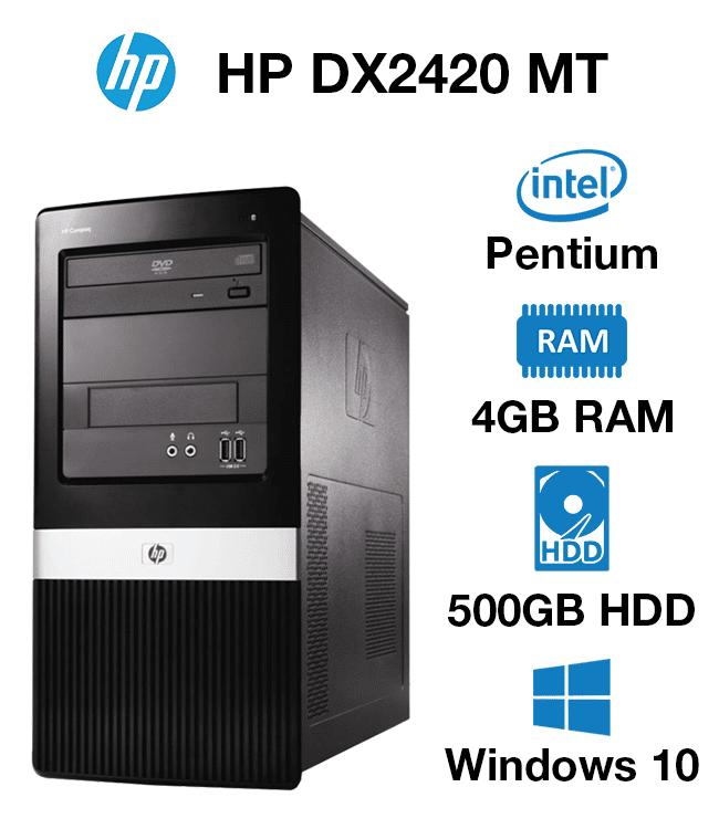 HP Compaq DX2420 MT Pentium | 4GB | 500GB HD