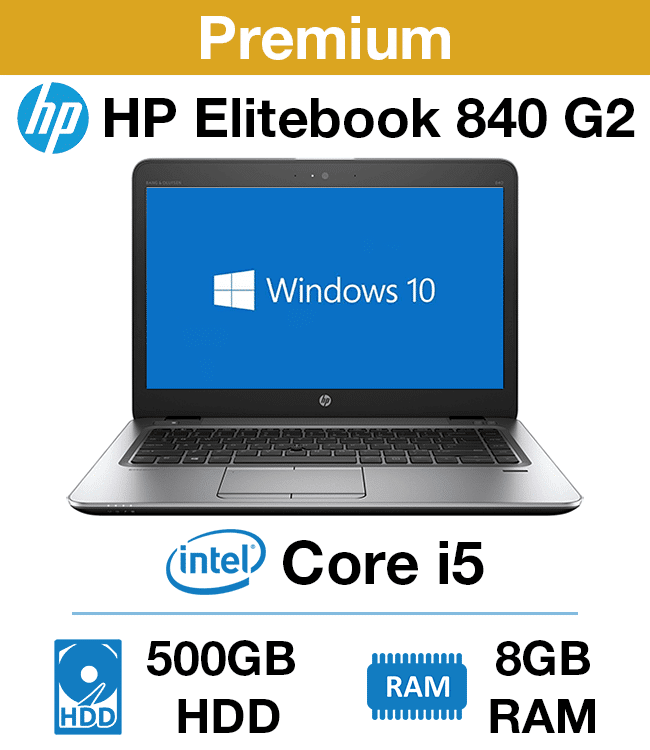HP Elitebook 840 G2 Core i5 | 8GB RAM | 500GB HD (Premium)