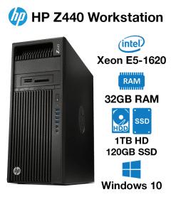 HP Z440 Workstation Xeon E5-1620   32GB RAM   1TB HD/120GB SSD   nVidia 2GB Graphics