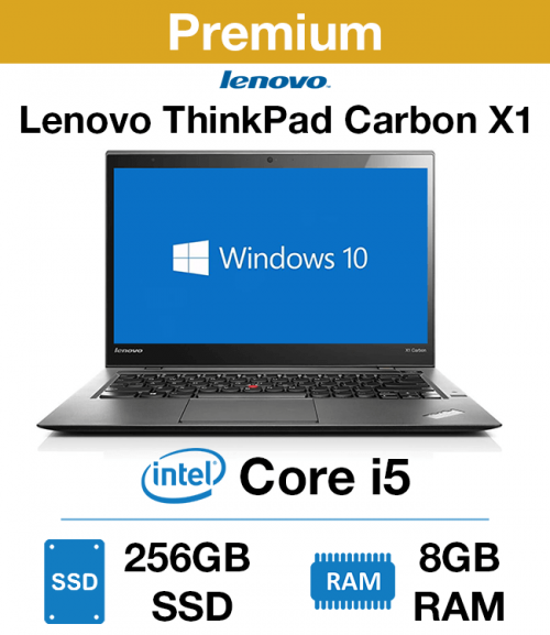 Lenovo ThinkPad X1 Carbon Core i5 | 8GB RAM | 256GB SSD (Premium)