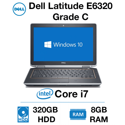Dell Latitude E6320 Core i7 | 8GB RAM | 320GB HD Grade C (Dent on lid & Dead Pixels)