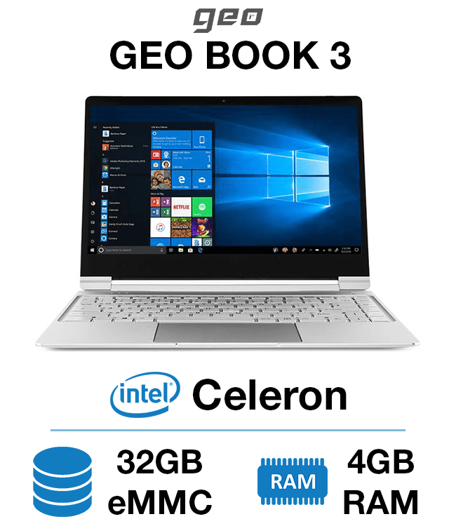 Geo Book 3 Celeron 4gb 32gb Emmc Green It