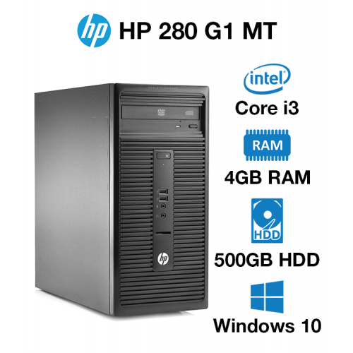 HP 280 G1 MT Core i3 | 4GB | 500GB HD