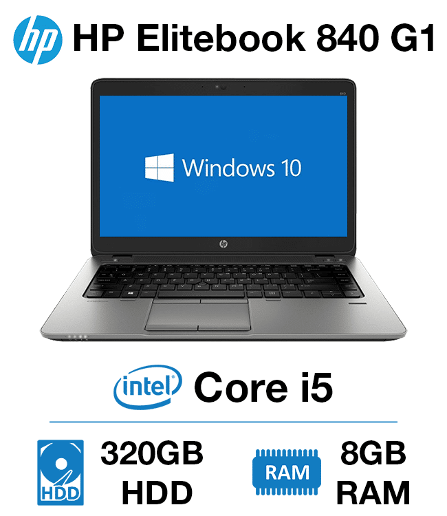 HP Elitebook 840 G1 Core i5 | 8GB RAM | 320GB HD