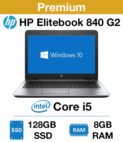 "HP Elitebook 840 G2 Core i5 | 8GB RAM | 128GB SSD (12.5"")(Premium)"