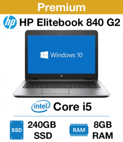 HP Elitebook 840 G2 Core i5 | 8GB RAM | 240GB SSD (Premium)
