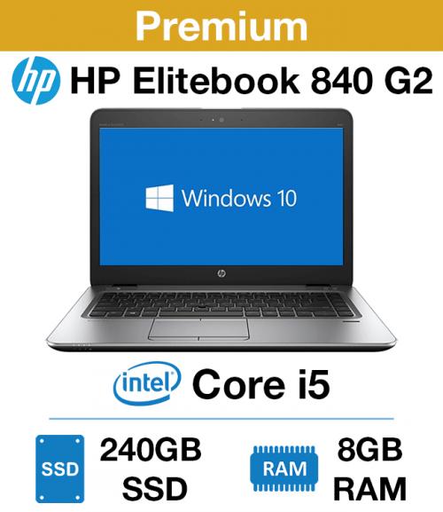 HP Elitebook 840 G2 Core i5 | 8GB RAM | 240GB SSD (Premium)