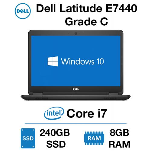 Dell Latitude E7440 Core i7 | 8GB | 240GB SSD Grade C (Lid Scuffed & Cracked Bezel)