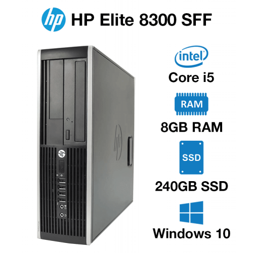 HP Compaq Elite 8300 SFF Core i5 | 8GB | 240GB SSD