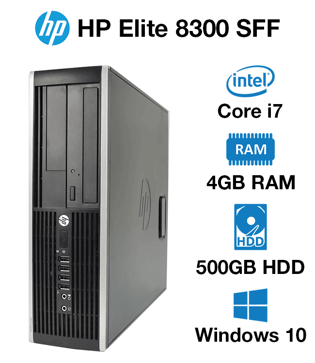 Hp Compaq Elite 8300 Sff Core I7 4gb 500gb Hd Green It