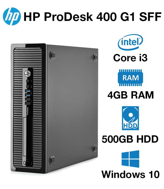 Verwonderend HP ProDesk 400 G1 SFF Core i3   4GB   500GB HD - Green IT EK-61