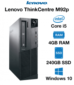 Lenovo ThinkCentre M92p SFF Core i5 | 4GB RAM | 240GB SSD