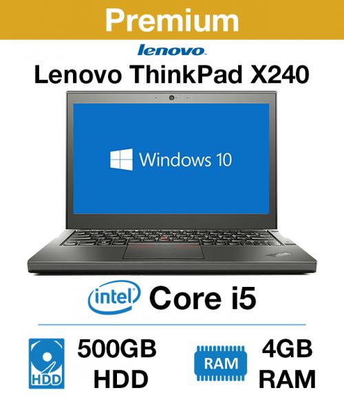 Lenovo ThinkPad x240 Core i5 | 4GB RAM | 500GB HDD (Premium)