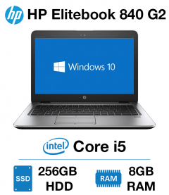 HP Elitebook 840 G2 Core i5 | 8GB RAM | 256GB SSD (New Battery)