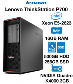 Lenovo ThinkStation P700 Xeon E5-2623 | 16GB RAM | 500GB HD/256GB SSD | NVIDIA Quadro K4200 4GB Graphics