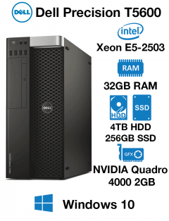 Dell Precision T5600 Workstation Xeon E5-2503 | 32GB RAM | 4TB HD/256GB SSD | NVIDIA Quadro K4000 4GB Graphics