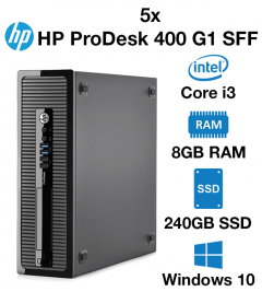 5 x HP ProDesk 400 G1 SFF Core i3 | 4GB | 240GB SSD (School Only Offer)