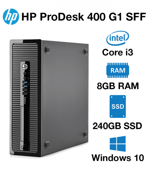 HP ProDesk 400 G1 SFF Core i3 | 4GB | 240GB SSD (School Only Offer)