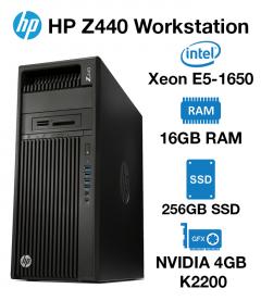HP Z440 Workstation Xeon E5-1650 | 16GB RAM | 256GB SSD | nVidia 4GB K2200 Graphics