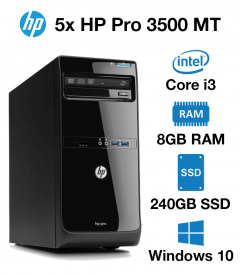 5x HP Pro 3500 MT Core i3 | 8GB | 240GB SSD (School & Charity Offer)