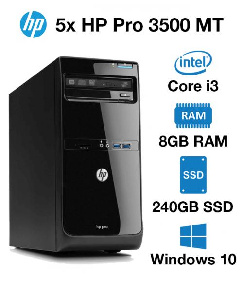 5x HP Pro 3500 MT Core i3 | 8GB | 240GB SSD (School & Charity Offer)