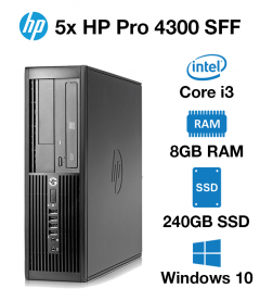 5x HP Pro 4300 SFF Core i3 | 8GB | 240GB SSD (School & Charity Offer)
