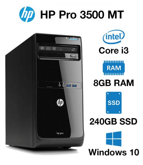 HP Pro 3500 MT Core i3 | 8GB | 240GB SSD(School & Charity Offer)