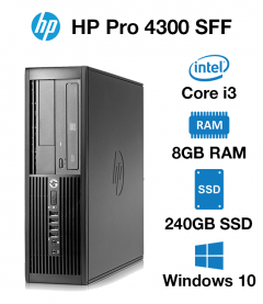 HP Pro 4300 SFF Core i3 | 8GB | 240GB SSD (School & Charity Offer)