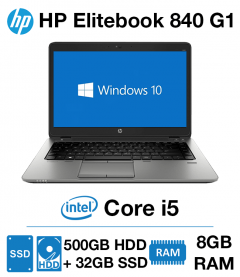 HP Elitebook 840 G1 Core i5 | 8GB | 500GB HD + 32GB SSD