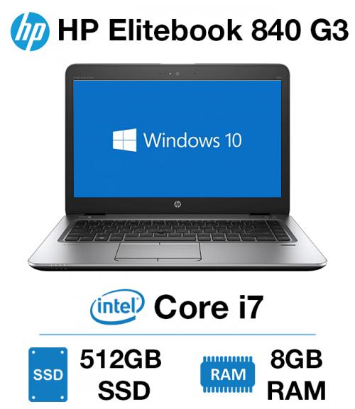 HP Elitebook 840 G3 Core i7 | 8GB RAM | 512GB SSD