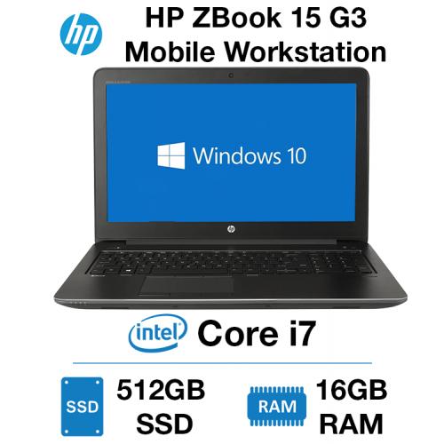 HP ZBook 15 G3 Mobile Workstation Core i7-6820HQ | 16GB RAM | 512GB SSD | NVIDIA Quadro M2000M 4GB