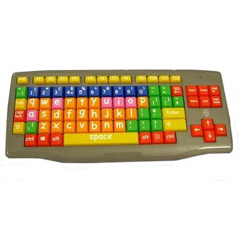 Easy2Use Large key Lower Case Coloured Kids Keyboard