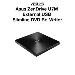 Asus ZenDrive U7M External USB Slimline DVD Re-Writer
