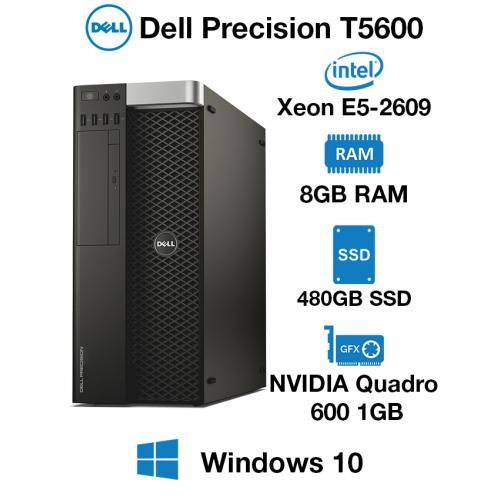 Dell Precision T5600 Workstation Xeon E5-2690 | 8GB RAM | 480GB SSD | NVIDIA Quadro 600 1GB Graphics