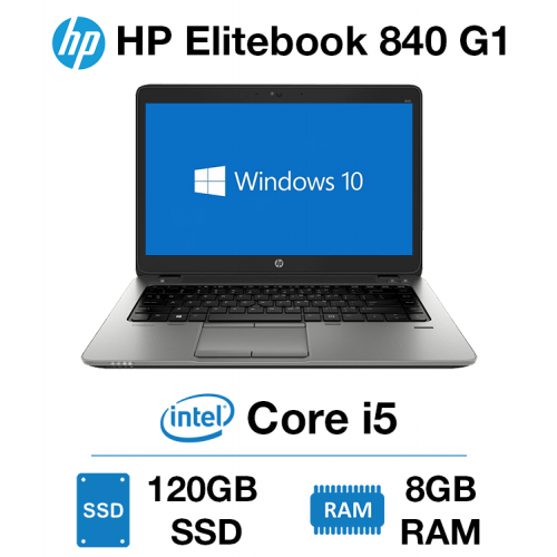 HP Elitebook 840 G1 Core i5   8GB   120GB SSD