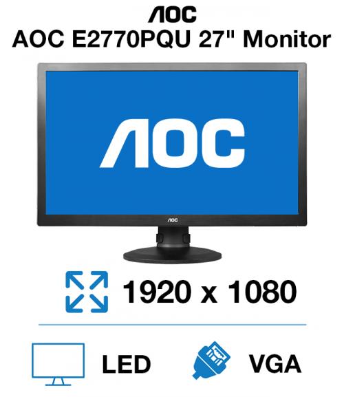 """AOC E2770PQU 27"""" Monitor"""