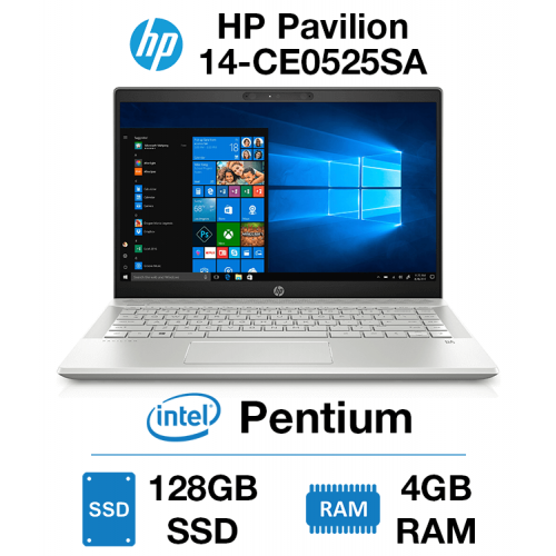 HP Pavilion 14-CE0525SA Pentium   4GB RAM   128GB SSD   Windows 10 S (Open Box)
