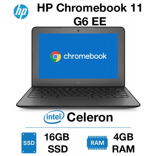 HP Chromebook 11 G6 EE Celeron | 4GB | 16GB SSD